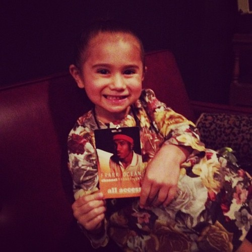 bigdaddykelly:  Chloe channeling orange… (Taken with Instagram)