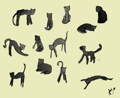 Happy Friday the 13th. Here's 13 black/dark grey cats.  I was gonna post some other stuff but I'm just kinda meh.