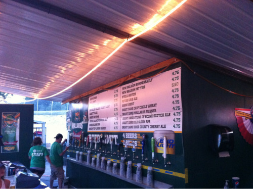 this is what beer taps at a ballpark should look like - 9 local craft brews on tap.