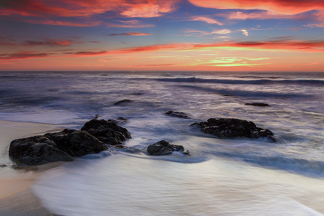Another Gray Whale Cove Sunset on Flickr.Via Flickr: Thought I would post another shot I found and processed from that evening back in February. Canon 7D 17-40mm f/4 ISO 100 f/22 1.3 Seconds Buy this shot here: tobyharriman.smugmug.com/Photography/Seascapes/21108547_M… [www.tobyharriman.com] [facebook] [Google+] [Tumblr] [Twitter] [redbubble]View on Black © Toby Harriman all images Creative Commons Noncommercial. Please contact me before use in any publication.
