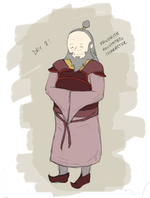 Drawing Challenge Day 8 (Uncle Iroh!)