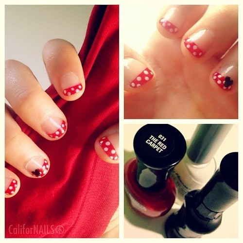 Did the tutorial by CutePolish on YouTube on my… - CaliforNAILS☮ on We Heart It. http://weheartit.com/entry/32594732