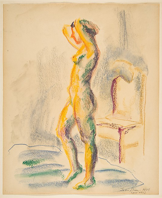 cavetocanvas:  John Sloan, Looking in Mirror, 1929