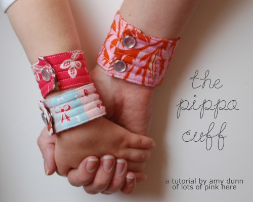 "DIY Quilted Cuff Tutorial from Lots of Pink Here. *First seen at Sew She Can here. Amy, author of this tutorial, asks:  ""I am thrilled for you to make as many cuffs as you would like for yourself or friends and, of course, for charity but please do not sell cuffs made using my tutorial.  Thank you for understanding!!!"""