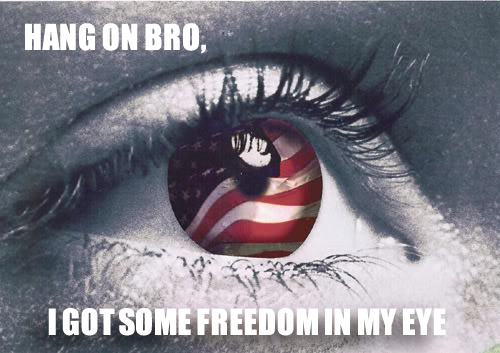 Freedom. Don't get it in your eye.
