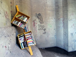 Guerrilla Library under Broadway Bridge. Read more about these here, & if you find any others, send them to me! More Saskatoon street art can be found here.