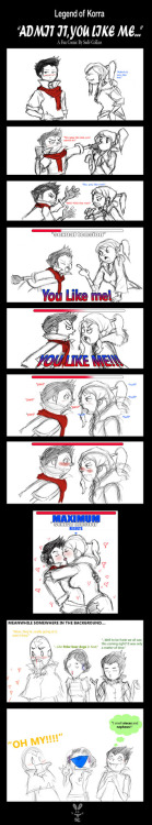 thegreatestearthbender:  LoK: Makorra~Admit it, you like me by ~Shade-of-Anime