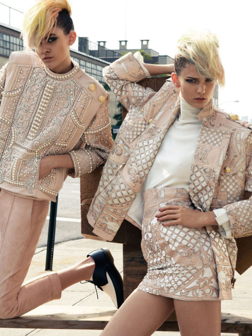 dysfashional:  Balmain, always a voguish emblazoning of exquisite detail…