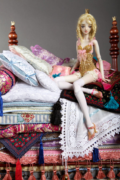 Princess and the Pea - Enchanted Doll by Marina Bychkova