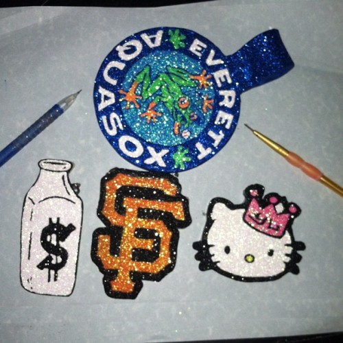 Days work! #aquasox #milkmoney #hellokitty #sf #summer #smackin #claydope  (Taken with Instagram)