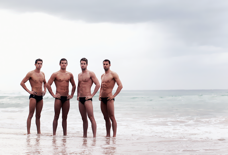 Australian Men's Olympic swim Eamon Sullivan, James Roberts, James Magnussen and Matt Targett
