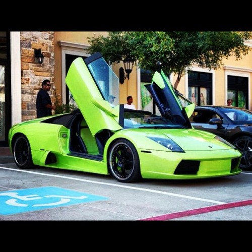 Day 13: Open. Open doors. #green #lambo #Lamborghini #open #doors #serve #mercy #up #parkinglot #picoftheday #bestoftheday #instago #instadaily #instagrammers #instahub #instagramhub #july #photo #challenege #photography (Taken with Instagram)