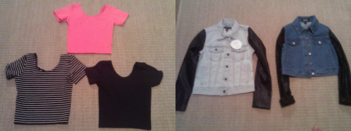 eleanor-calderfashion:  Here we are giving away some of eleanors items she has worn including This american apparel striped crop top in small This american apparel black crop top in small This american apparel orange ( not pink ) crop top in small and the urban outfitters denim jacket with leather sleeves in small Also the fake forever 21 similar to the original in small Must be following us eleanor-calderfashion and you can reblog as many times as you want winner is picked July 20th and the winner will be kept a secret. Also worldwide shipping! (Click on photo to reblog this) Good luck!