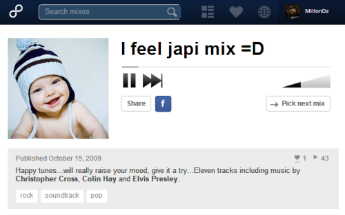 Now playing: ► I feel japi mix =D  I feel japi mix =D from MiltonDz on 8tracks.