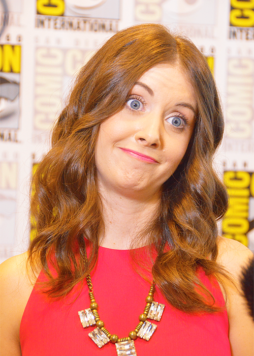 Alison Brie attends the 'Community' Press Room during Comic-Con International 2012 held at the Hilton San Diego Bayfront Hotel on July 13, 2012 in San Diego, California  …and makes the best face ever