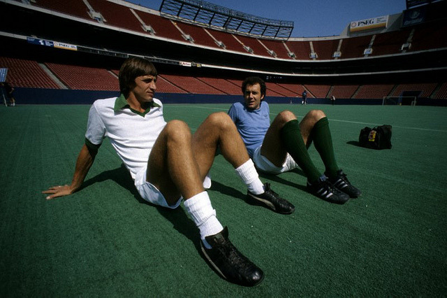 Johan Cruyff and Franz Beckenbauer in 1978.