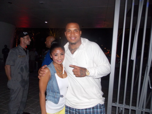Mike Pouncey enjoying the game at the Clevelander.
