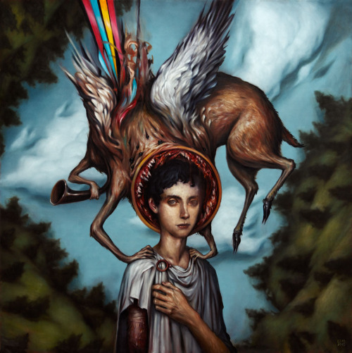 charlottenataly:  One of my favorite paintings by Esao Andrews, I'm deeply infatuaded with his work, absolutely breath taking. Not only that but if you are firmilar with Circa Survive, you'll know that this is their album art work, beautiful.