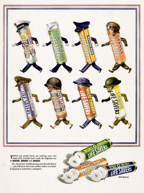 Life Savers Candy, 1943