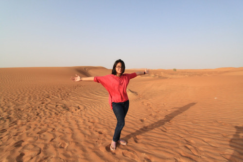 Safari Desert in Sahara. Dubai were fun! :)