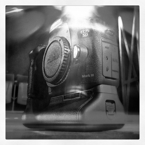Fresh out the box: Canon 5D III. Shot with my iPhone.  (Taken with Instagram)