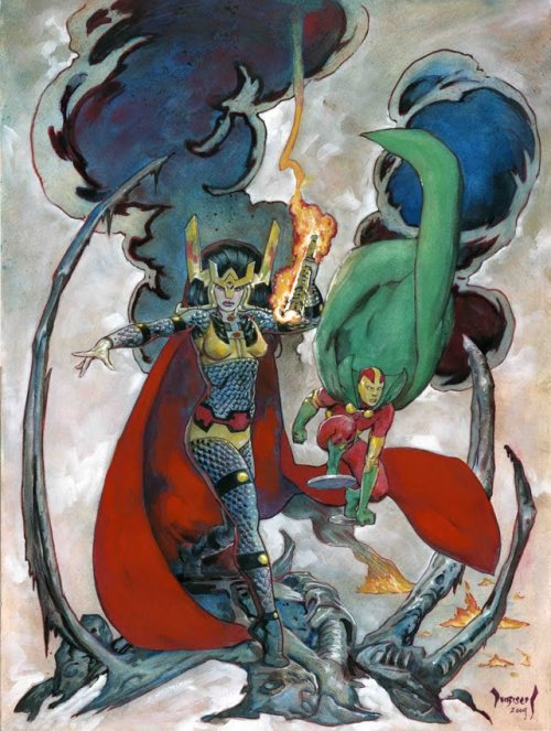 Big Barda & Mr. Miracle by Mike Dubisch