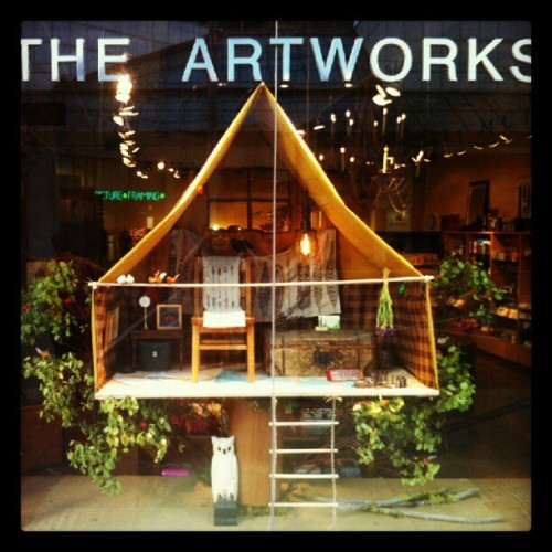 #Treehouse #Tent window at #TheArtworks inspired by Mr. #Wes #Anderson. We love you!! (Taken with Instagram)