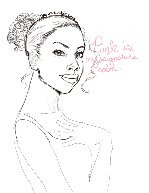 tried drawing Condola Rashad as Shelby from Steel Magnolias… looks nothing like her, Been working on for a very long time and it just got worse and worse… it was like, trying to put out fire by feverishly throwing gasoline on it.  Ugh. But whatever. >_>