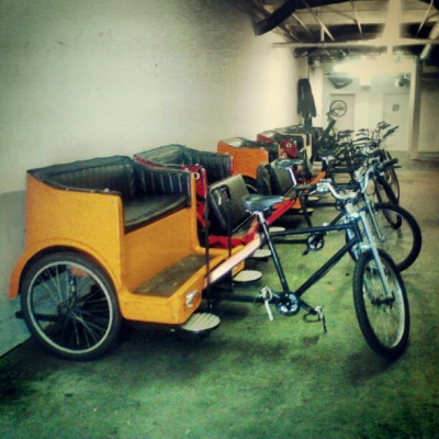 The new job. #pdx #pedicab #pdxpedicab #portland #bike #bicycle (Taken with Instagram)