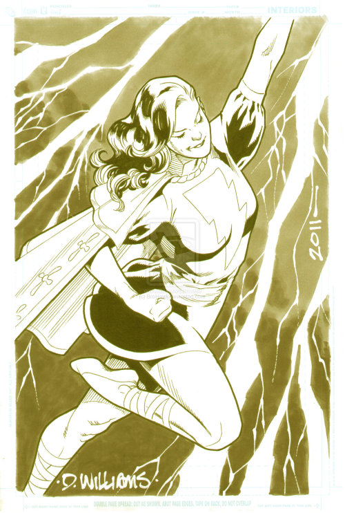 Mary Marvel commission by David Williams