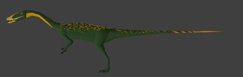 Alright I'm done trying to fiddle with skins for now. This Coelophysis is pretty much done with the base, now I just need to work out getting that TF2 feel into it. Oh well, tomorrow's another day.