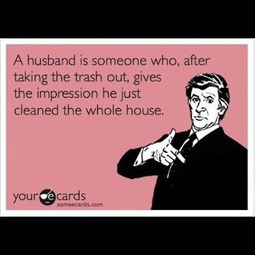 #ecards #husband #lol #marriage #cleaning  (Taken with Instagram)