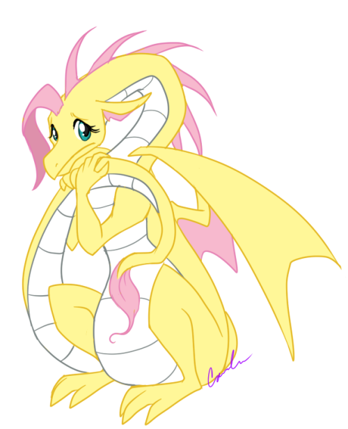 And then Fluttershy was a dragon.
