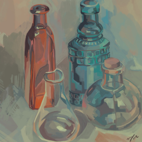 """Still-life"" by sparksell (2012) sparksel:  the final painting to go with video"