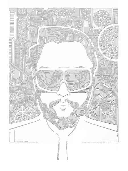 eve-levie:  Music Illustration: will.i.am. Pen and Ink (edited). 16x23.25 inches