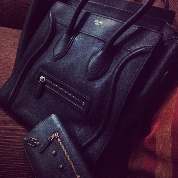 glitterymayhem:  After shopping.. #celine #balenciaga #black #bag #fashion (Taken with Instagram)