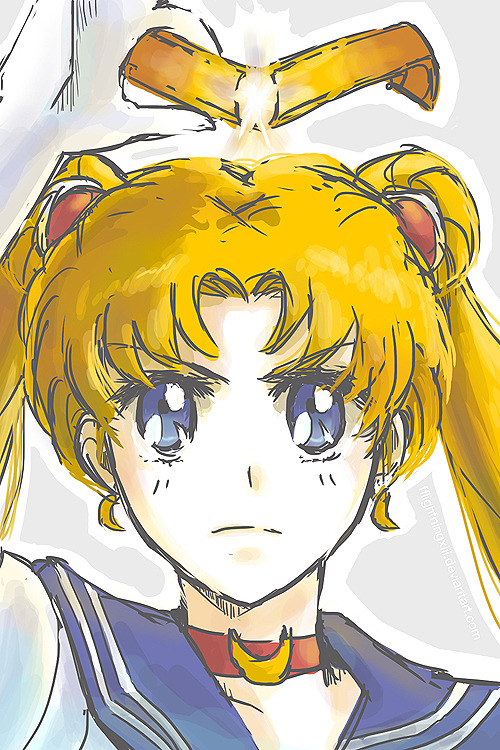 For Love and Justice, the pretty sailor suited soldier Sailor Moon! In the name of the moon I will punish you!