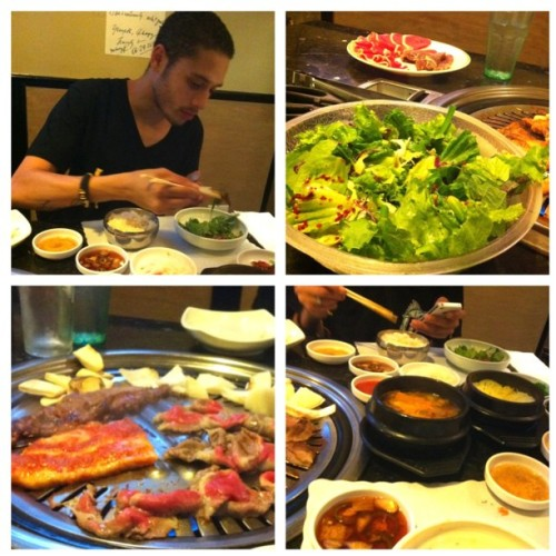 #kbbq#ktown#MWC#foodporn#foodporno#Korean#instagood#instagdaily#TGIF grubbed with @jpgoldstein_lidf  (Taken with Instagram)