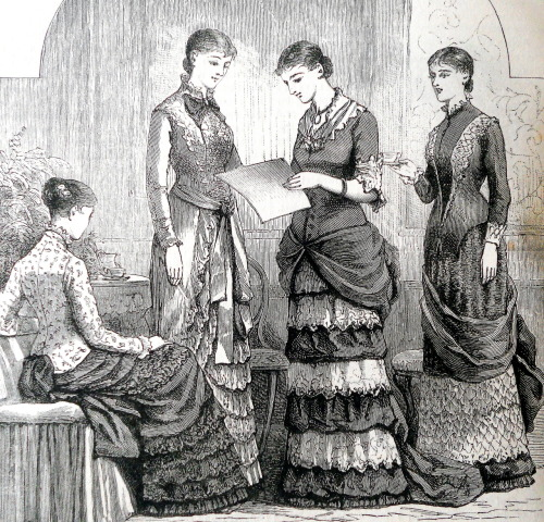 treselegant:  'Chit Chat on dress.' Cassell's Family Magazine, 1881.