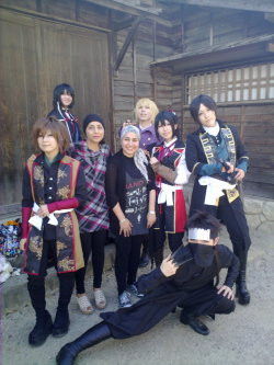 Cosplay of my favorite anime Shinsengumi in samurai town in kyoto =D