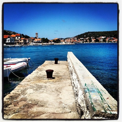 Fjaka #see #port #Tisno (Taken with Instagram at Tisno @Mali Porat)