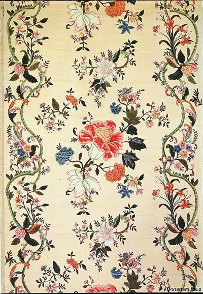 courtroyale:  Silk Panel early 18th century Chinese for export metropolitan museum