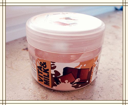 this is the best body butter in the whole world, it smells like chocolate mousse or milk chocolate. and the smell doesn't fade that fast! I got it from russia and I really don't know how to repurchase it ;_; it's a kind of soufflé and so easy and fun to apply on the skin… I'll go search ebay!