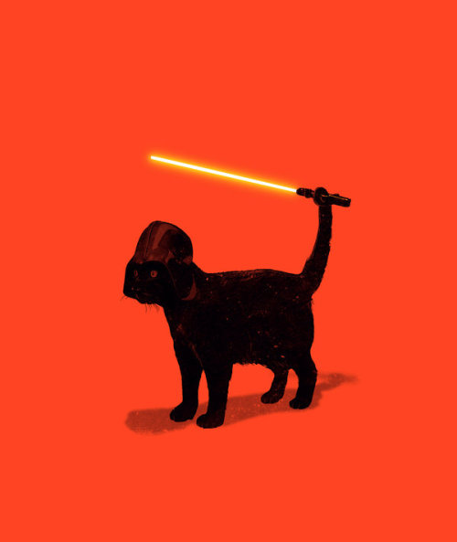 Cat Vader available as a print!