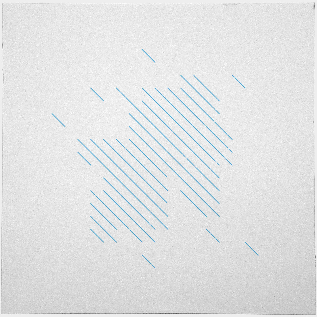 geometrydaily:  #198 Summer rain – This is #194's sister piece, can you see how they relate? – A new minimal geometric composition each day