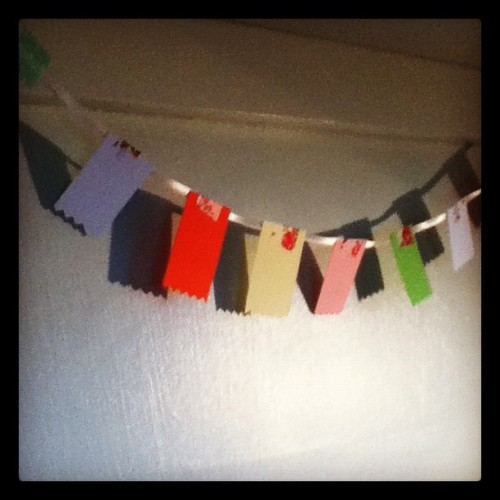 #paper #washitape #bunting (Taken with Instagram)