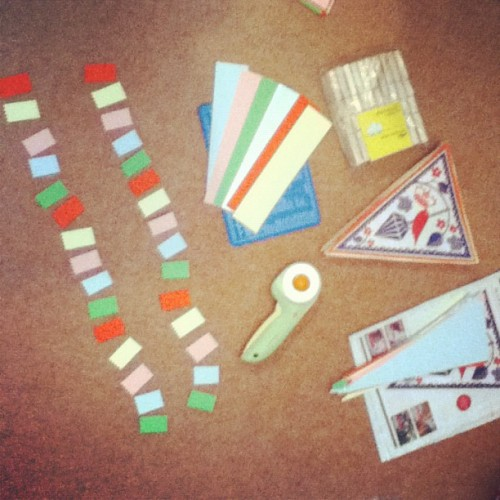 #papercraft #bunting #washitape #robryan (Taken with Instagram)