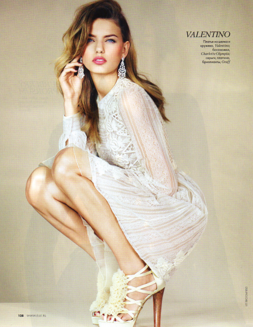 Bregje Heinen for Elle Russia August 2012 ♥