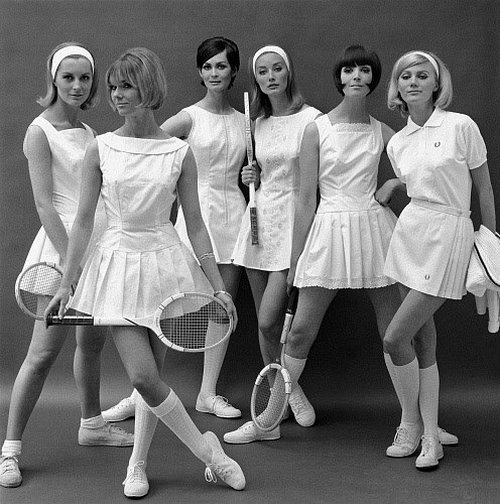 theswinginsixties:  1960s tennis fashions.