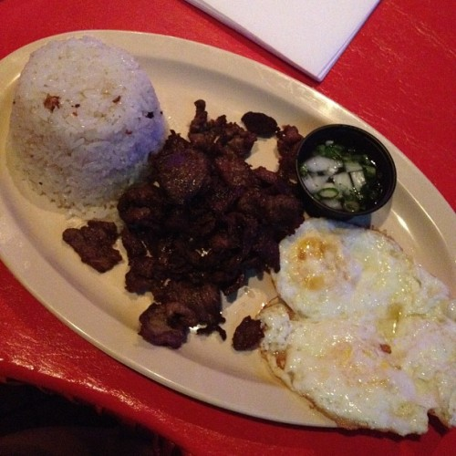Tapsilog 😊 (Taken with Instagram at Kapuso Karaoke)